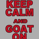 """Large - Ash Gray - """"KEEP CALM AND GOAT ON"""" WPI T-shirt Worcester Polytechnic Institute"""