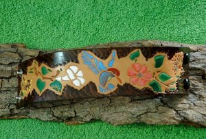 Leather Hummingbird Bracelet Item # 140