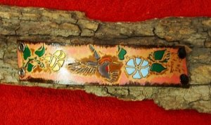 Leather Humming Bird Bracelet Item # 141