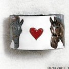 Collector's  Leather Equestrian Bracelet Hand Carved Item 144
