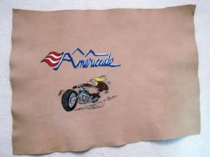 Collector's Leather Painting Of Americade Item 156