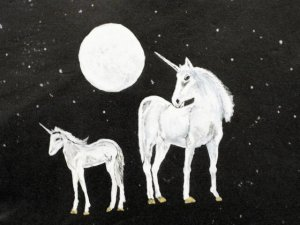 "Collector's Leather Painting Of ""The UniCorn,"" Item 162"