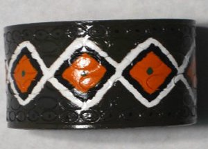 Collector's Native American Design Leather Bracelet I-189