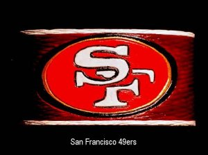 Collector's Dancing Diamonds San Francisco 49ers  Leather Bracelet Item 204