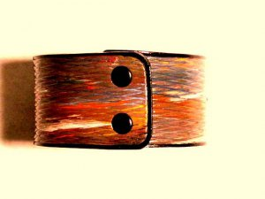 Collector's Dancing Diamonds Leather Bracelet Item 206