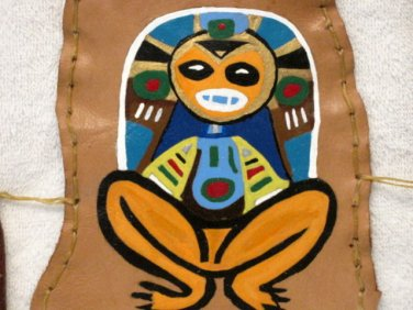 Collector's Leather Painting Indian Atabey mother earth Item 173