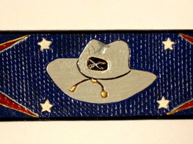Confederate Leather Hand Carved Banner Item 219