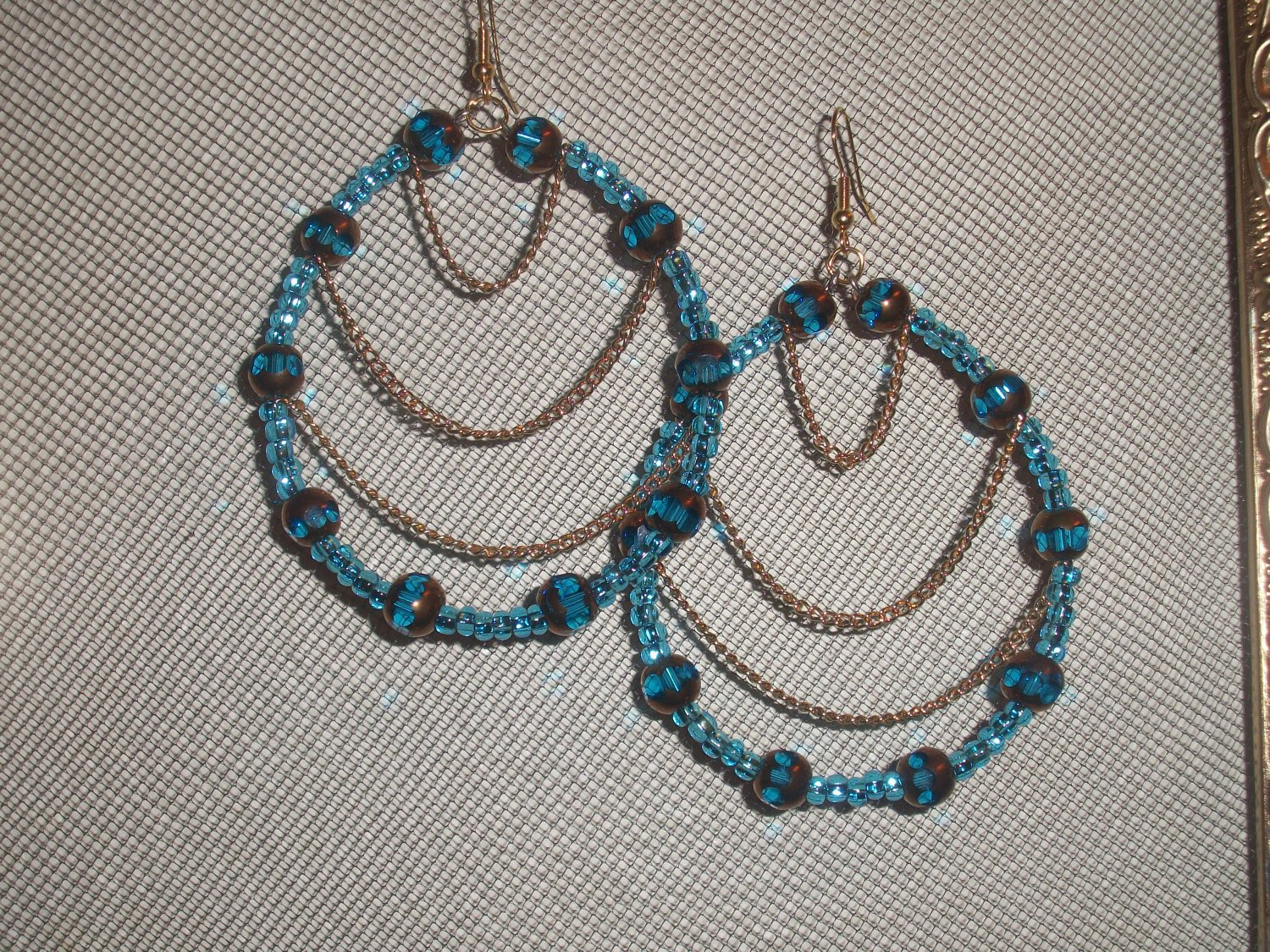 Beaded Chain Hoops