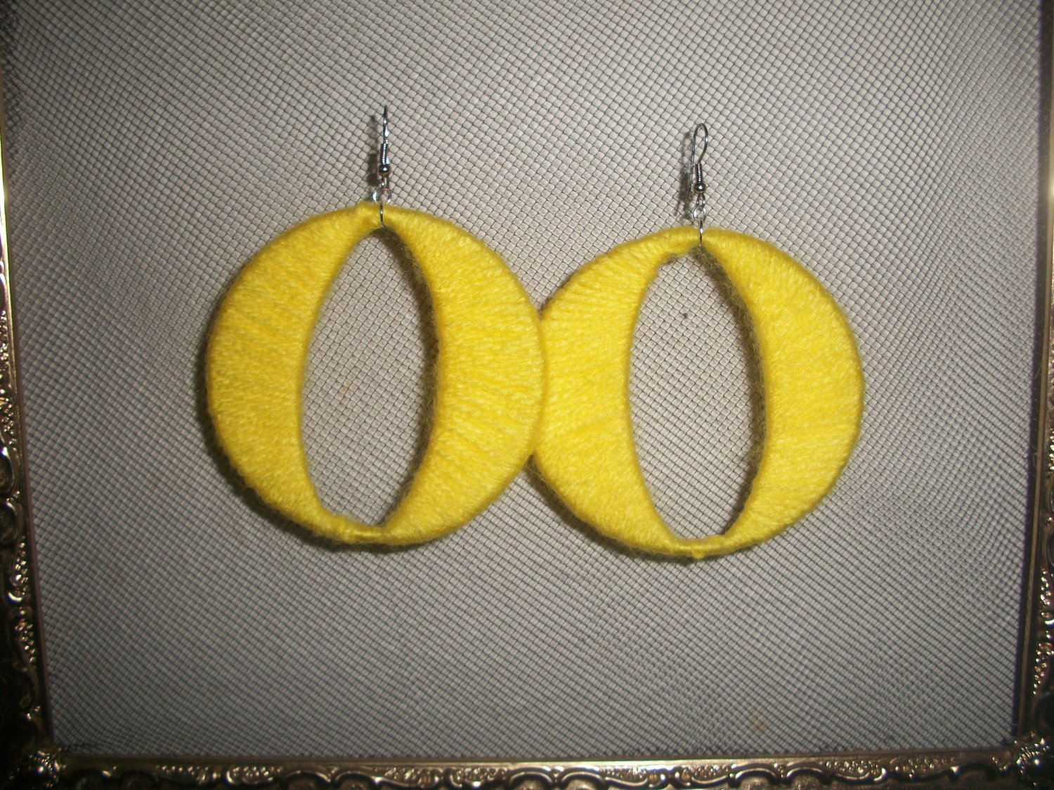 Yellow Cotton Candy hoops