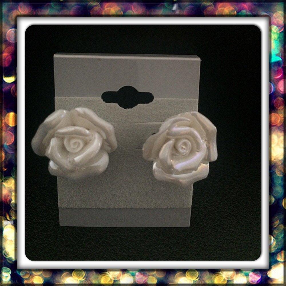 Handmade Pearly White Studs