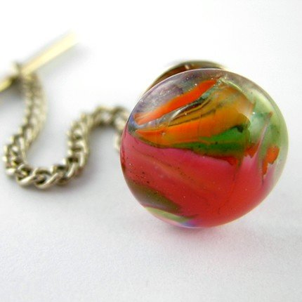 Fused Glass Tie Pin