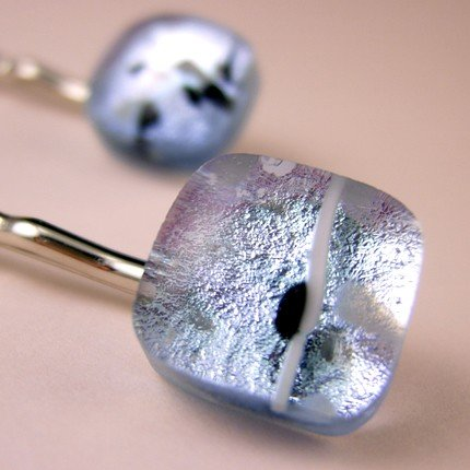 Dichroic Glass Bobby Pins