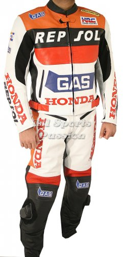 Honda Repsol Gas Motorbike Leather Suit ASP-7707