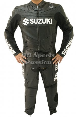 Suzuki Motorbike Leather Racing Suit ASP-7704