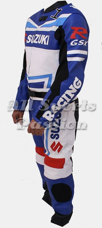 Suzuki Motorbike Racing Leather Suit 2-Pc ASP-7712