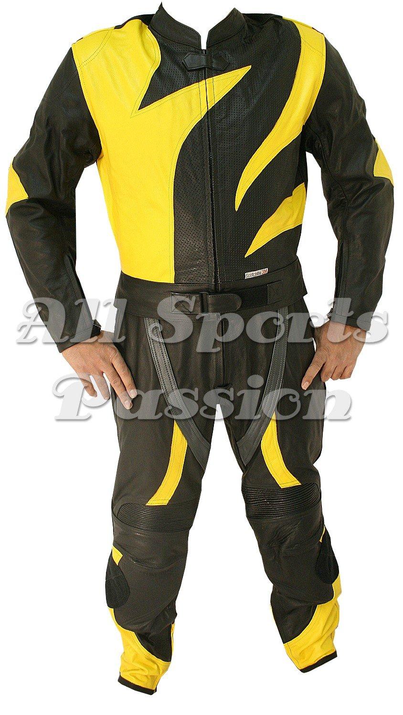 Mens Skelton Motorbike Racing Leather Suit ASP-7720