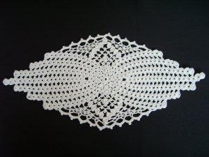Oval White doily