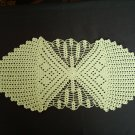 Green handmade crocheted tablecloth