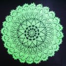 Handmade crocheted doily green