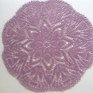 Purple crochet doily , lace doily, 16 ""