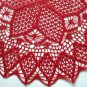 Christmas poinsettia crochet doily red
