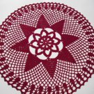 Handmade Crochet doily in Bordeaux