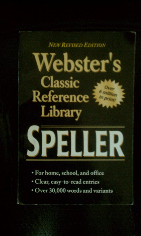 Webster's Speller Webster's Classic Reference Library (Paperback)