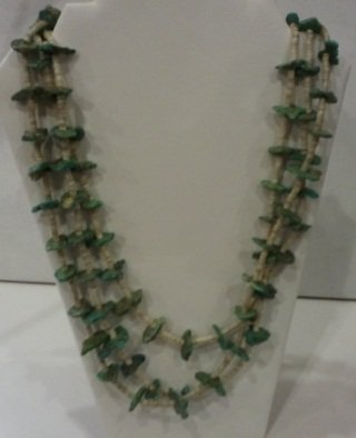 Vintage Native American Indian Heishi Turquoise Necklace