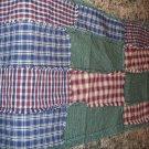 Rag patchwork runner...country homespun