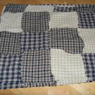 country primative black and brown rag placemats..set of 4