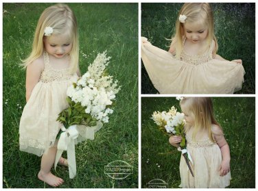 Girls Crochet Tulle Dress