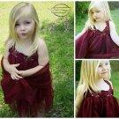 Crimson Crochet Tulle Dress