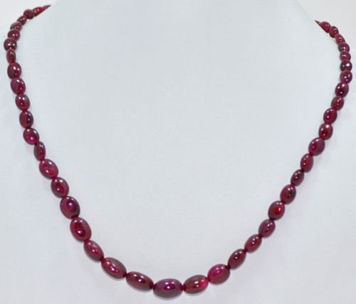 STRAND OF BEAUTIFUL NATURAL GEMSTONE RUBY OVAL BEADS