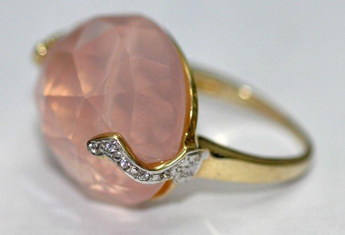 Rose Quartz Gemstone Studded Cocktail Ring