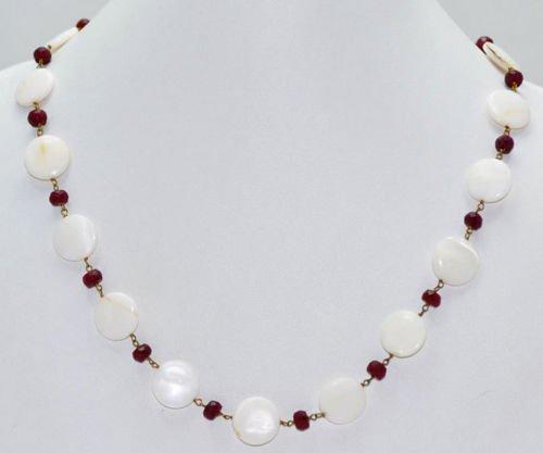 Ruby & Pearls Gemstone Fashion Jewellery Necklace