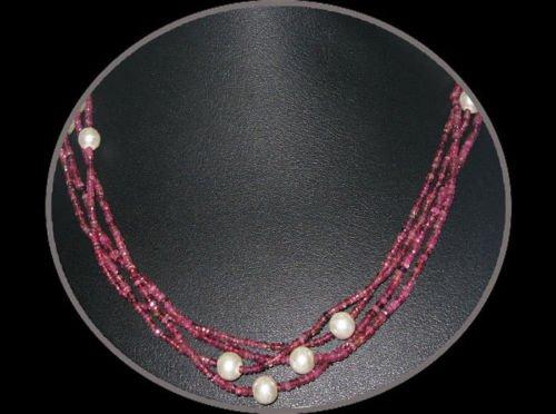 Beautiful Beads Jewelry of Pink Tourmaline & Pearls