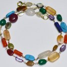 Multi Color Gemstone Strand Fashion Jewelry Necklace