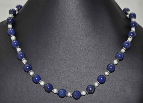 Beautiful Combination of Lapis & Sea Water Pearl Beads