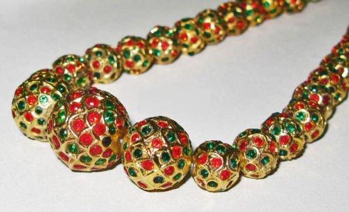 Multi Color Stones Studded In 22Kt Gold Foil Lac Balls