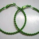 """Green twist huge huggie hoop earring 5cm 2"""""""