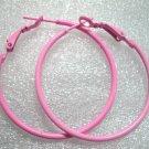 Pink huge huggie hoop earring 4cm