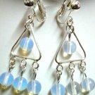 Handmade Victoria moonstone chandelier clip on earring