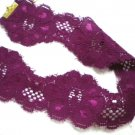 Soft purple rose flower stretch lace choker necklace 42mm wide