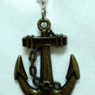 Plastic anchor hook dangle keychain purse charm