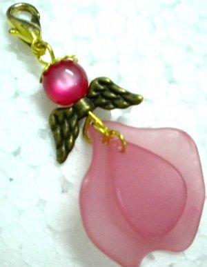 Angel dangle keychain purse charm