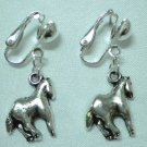 Children Jewelry horse charm clip on earring