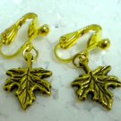 Children Jewelry maple charm clip on earring