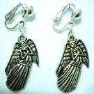 Children Jewelry angel charm clip on earring