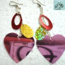 Jewelry sequin heart dangle earring for woman
