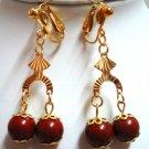 """Handmade red jasper dangle earring 2"""" (5cm)"""